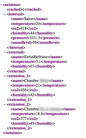 module netatmo eedomus xml